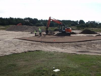 Placing rootzone layer to the 12th Green