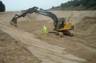 Reservoir construction earthworks