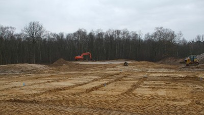 White Course, 12th Green and approach during construction