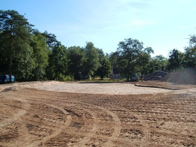 Red Course, base for the new 9th Green