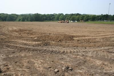 Cut and fill earthworks carried out with dozer and box