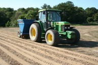 Sand spreading before amelioration into topsoil