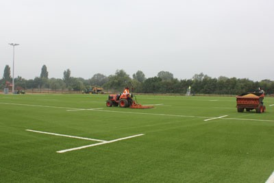 Installation of Rhino synthetic turf