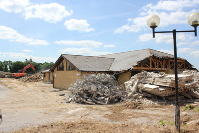 Strip out and demolition of golf clubhouse
