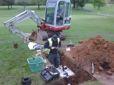 Installation of greens isolation valve assembly