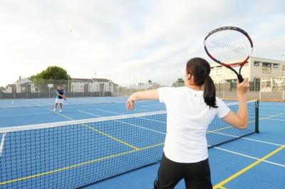 Tennis on MUGA