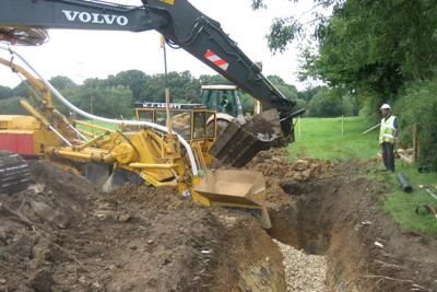 Installation of deep drainage