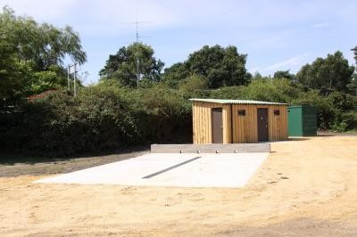 Post construction toilets, washdown and control kiosk