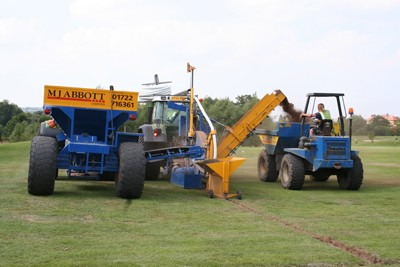 Wheel trencher, gravel cart and dumper