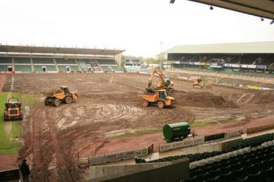 Removing old pitch surface