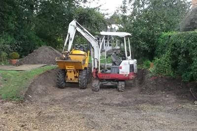 Excavating the site