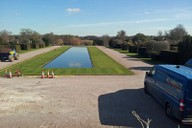 Long pond area following re-turfing works