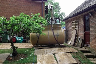 Delivering the sewage treatment plant