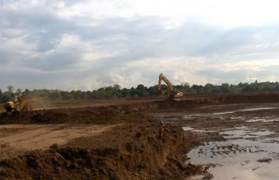 Construction of wetland