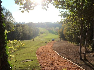 Repositioned path alongside the 5th Tees