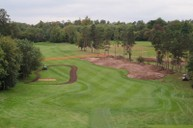 Turf and topsoil strip on the 5th Fairway