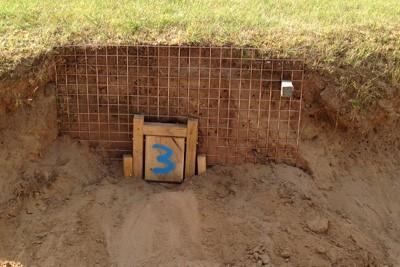 One-way badger gate installed in bunker