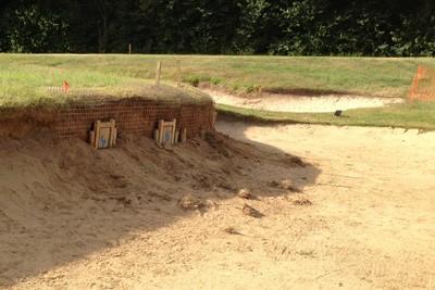 One-way badger gates installed in bunker