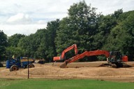 Re-soiling to green surrounds