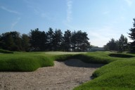 View of the 10th Green from the approach bunker