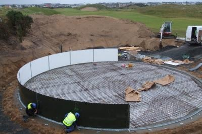 Installation of first wall ring