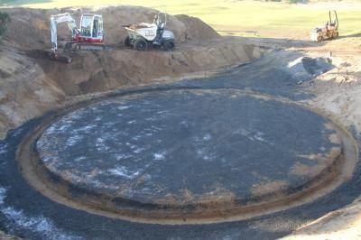 Sub base prepared for concrete installation