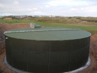 Completed Vulcan water storage tank