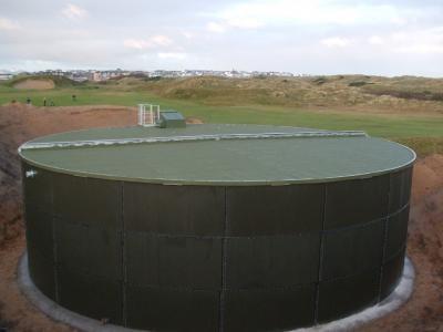 Completed Vulcan water storage tank