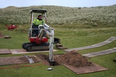 Installation of greens isolation valve assembly