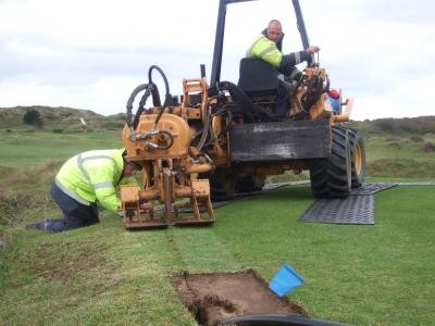 Moleploughing pipework