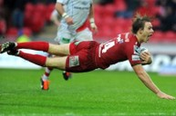 Liam Williams scores a try at Parc y Scarlets