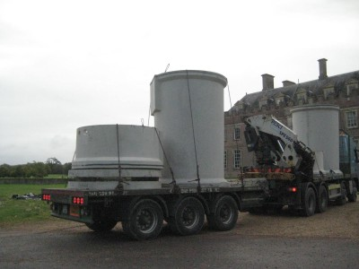 Arrival of tanks from Carlow Concrete