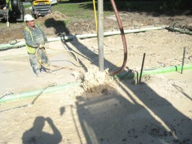 Installation of dewatering tube