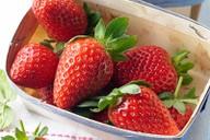 Punnet of strawberries