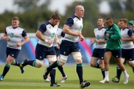 Paul O'Connell and other members of the Ireland squad training for the Rugby World Cup