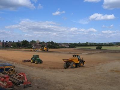 Topsoil re-spread and grading