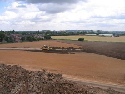 Topsoil re-spread