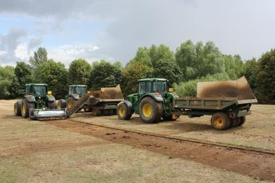 Koro Top Maker used to strip vegetation from topsoil