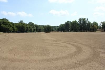 Seeded pitch areas