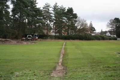 Completed drain on 2nd Fairway