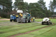 Primary drainage installed at 8 metres centres
