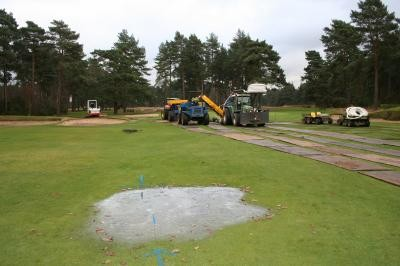 Primary drainage installed on 14th Fairway