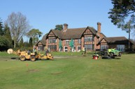 Moleploughing 18th Green pipework