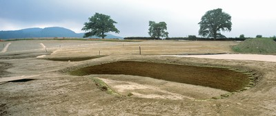 Newly constructed revetted bunker