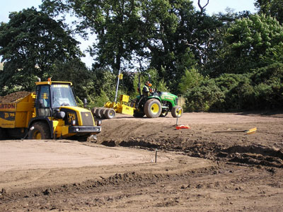Final preparation and grading of the 16th Tees