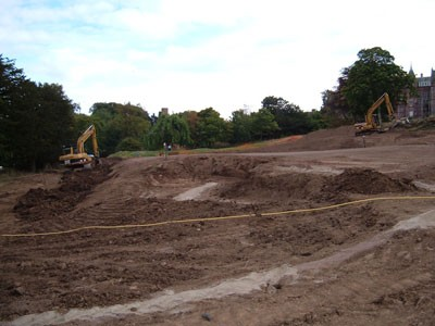 Shaping of the 18th Green surrounds