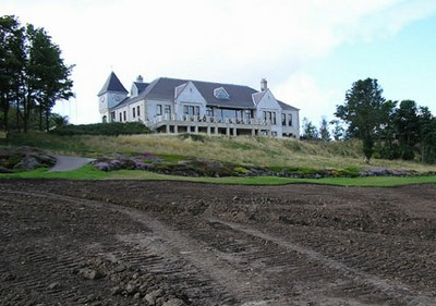 The Duke's clubhouse from the 18th Green