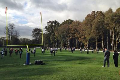 NFL team Jacksonville Jaguars training on pitch