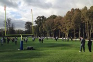 NFL team Jacksonville Jaguars training on pitch