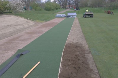 Installation of tee surface
